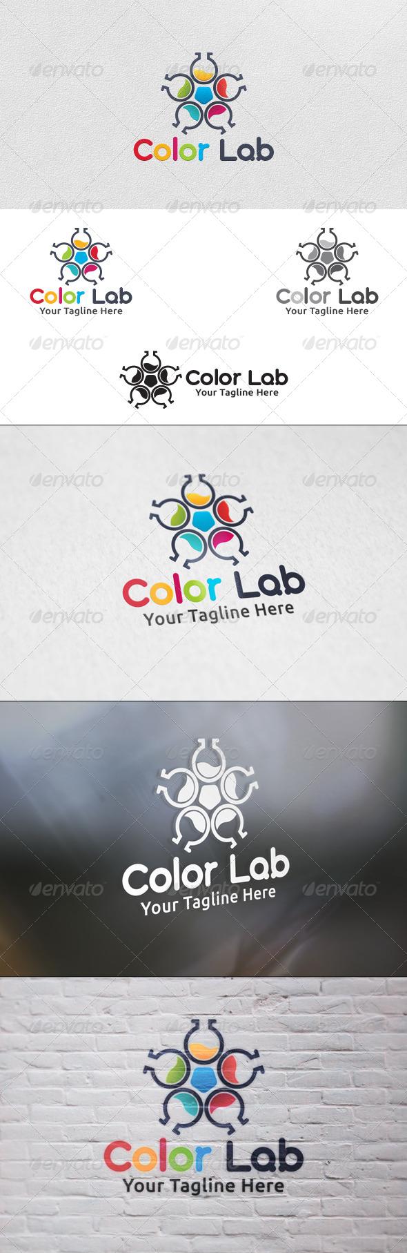 Color Lab - Logo Template by martinjamez | GraphicRiver