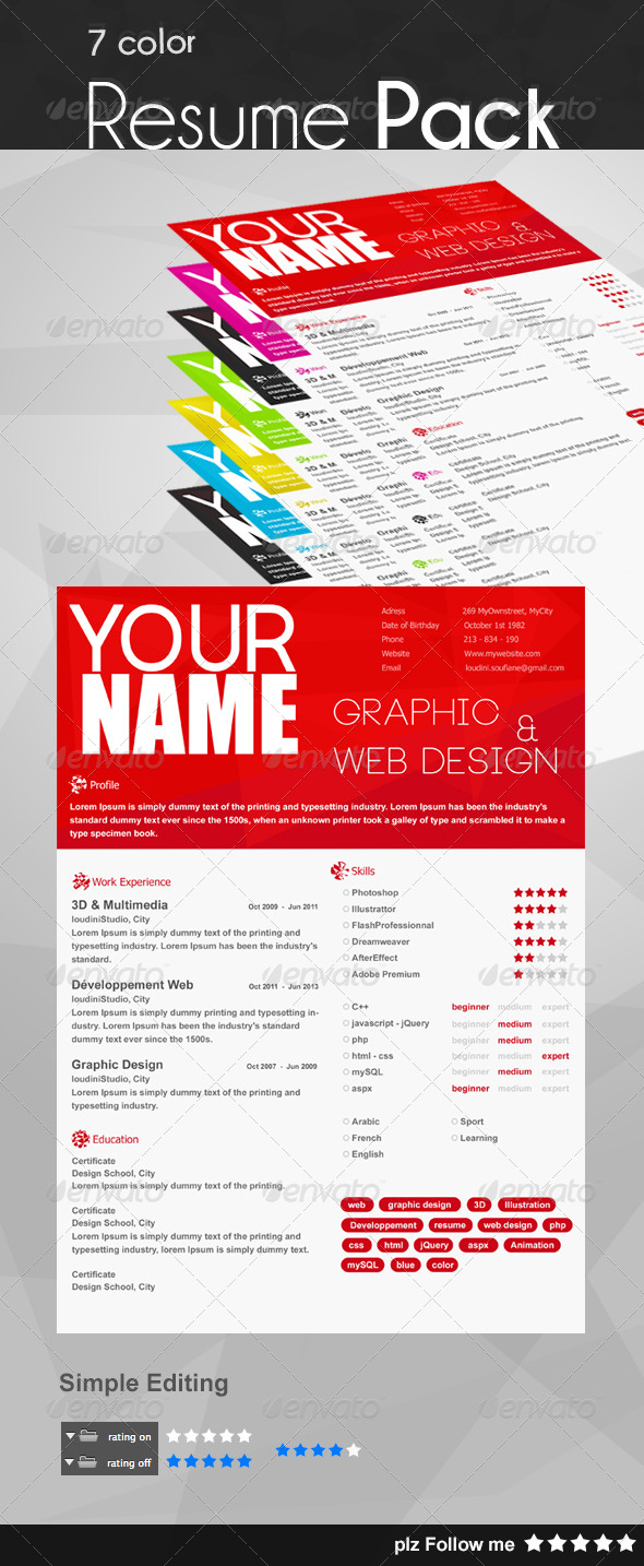 Resume Pack - Resumes Stationery
