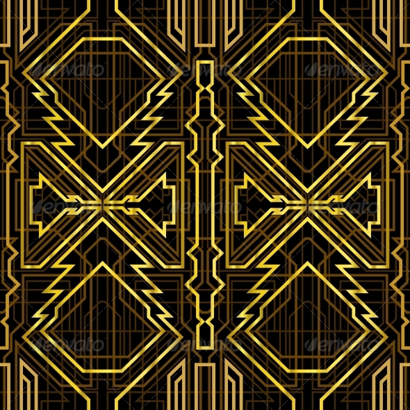 Art deco grille by marochkina graphicriver art deco grille patterns decorative toneelgroepblik Gallery