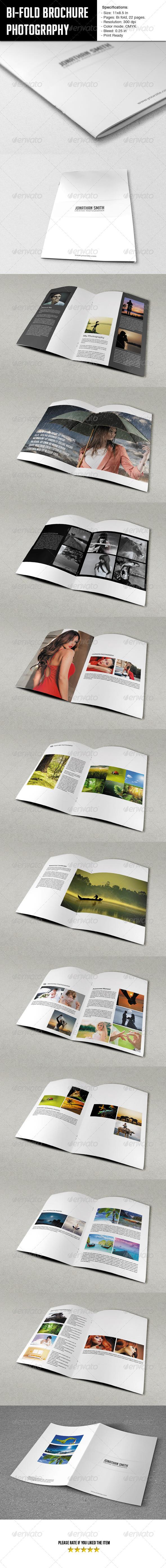 Bifold Brochure-Photographer Portfolio - Portfolio Brochures