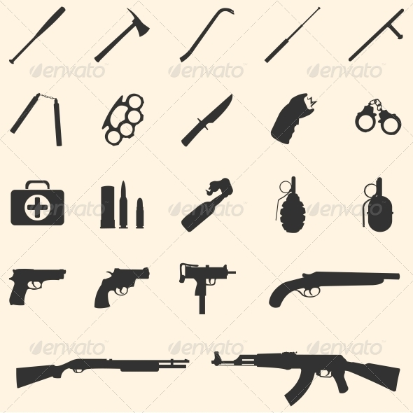 vector weapon icons - Miscellaneous Icons