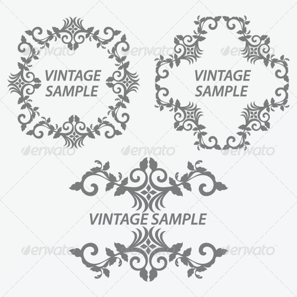 Vintage Frame 32 - Decorative Vectors