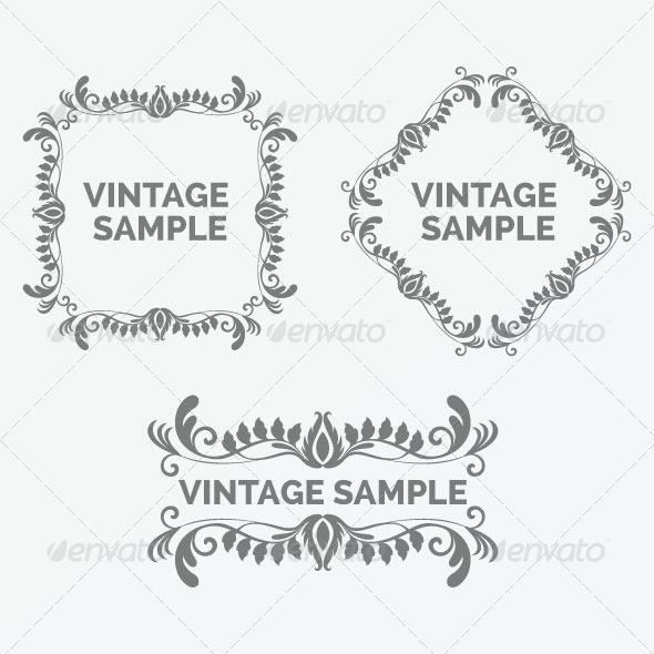 Vintage Frame 37 - Decorative Vectors