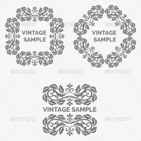 Vintage Frame 40 - Decorative Vectors