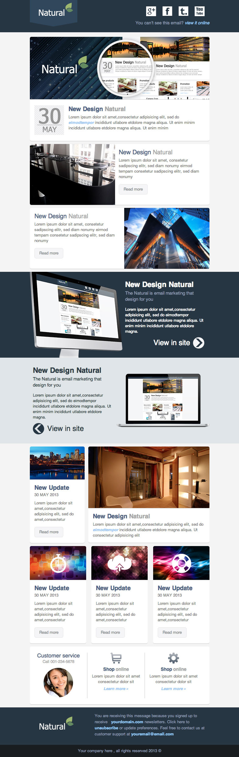 how to make a responsive email template - natural responsive email template by akedodee themeforest