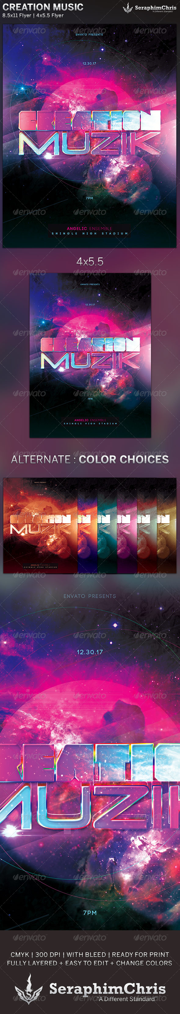 Creation Music: Event Flyer Template - Events Flyers