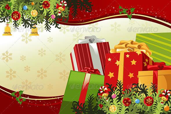 Merry Christmas Card - Decorative Vectors