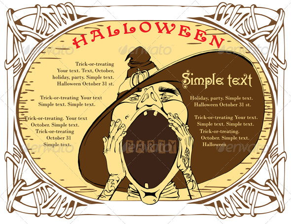 Halloween Invitation - Vectors