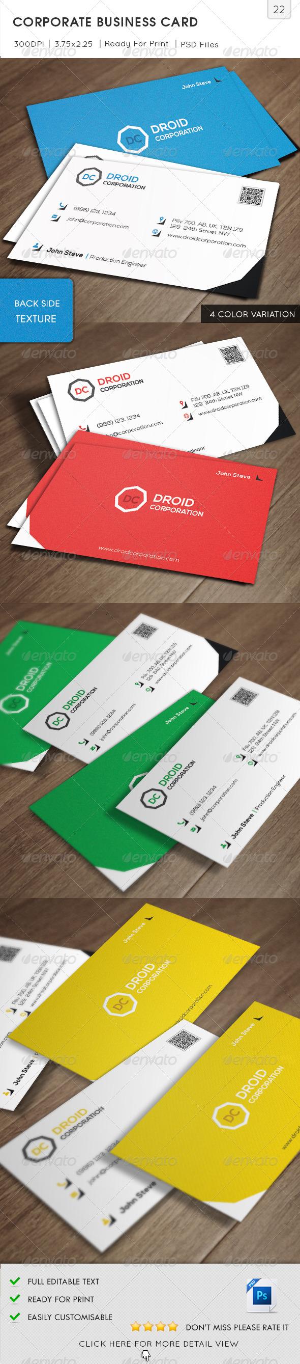 Corporate Business Card v22 - Corporate Business Cards