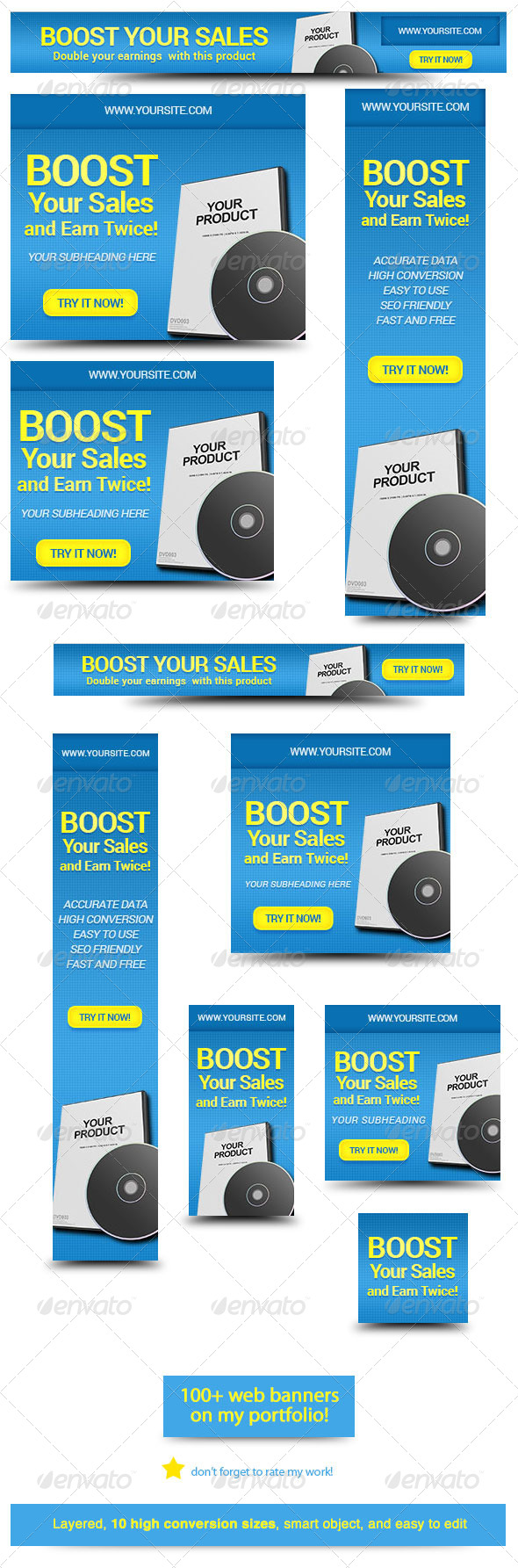 Marketing Box Web Banner Design - Banners & Ads Web Elements