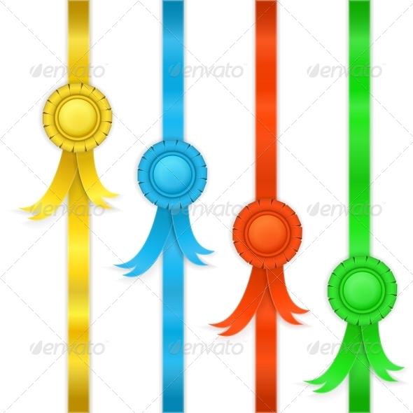 Set of Ribbons, Medals - Decorative Symbols Decorative