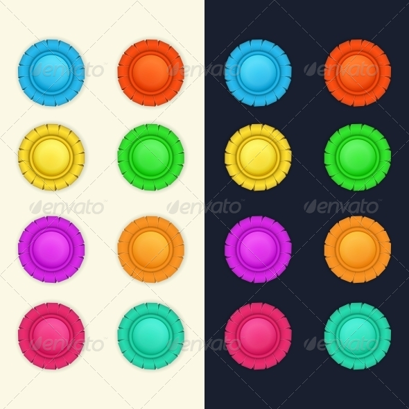 Set of Medals - Web Elements Vectors