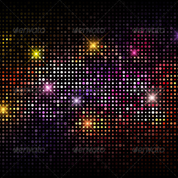 Disco Lights Background - Abstract Conceptual