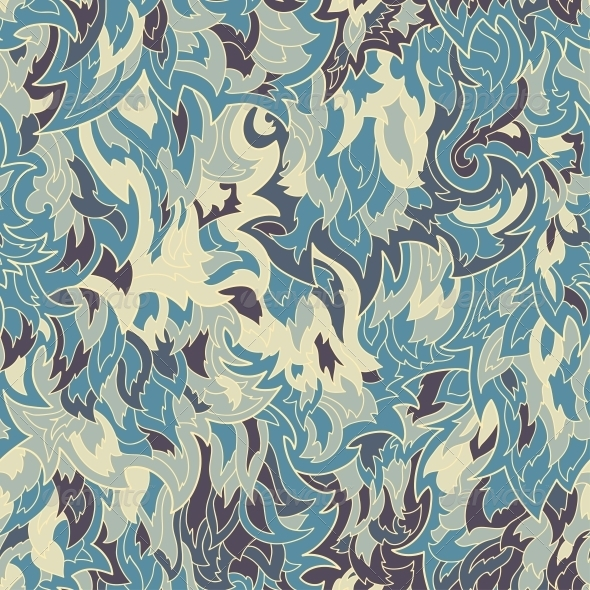 Seamless Fur or Flame Pattern Background - Backgrounds Decorative