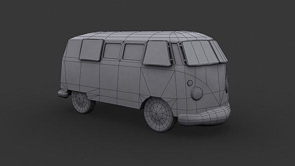 VW Kombi Low Poly - 3DOcean Item for Sale