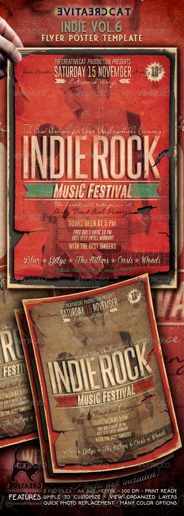 Indie Flyer/Poster Vol. 6 - Events Flyers
