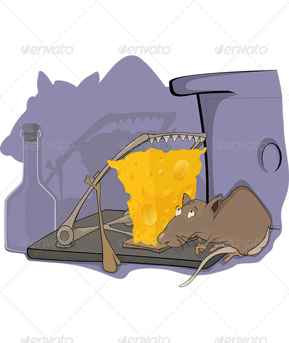 Rat a Mousetrap and a Cellar Cartoon - Animals Characters