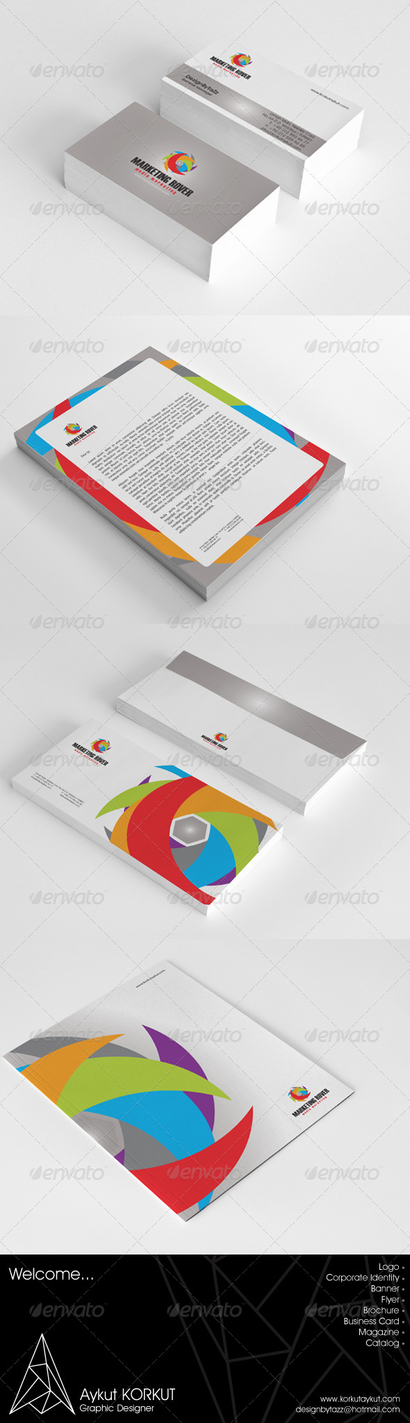 Marketing Corporate Identity Package - Stationery Print Templates