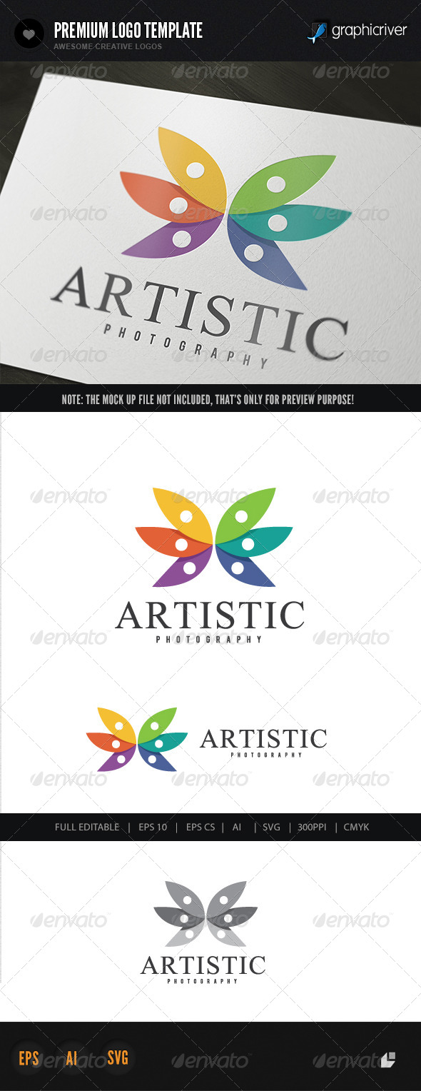 Artistic Photography Logo - Letters Logo Templates