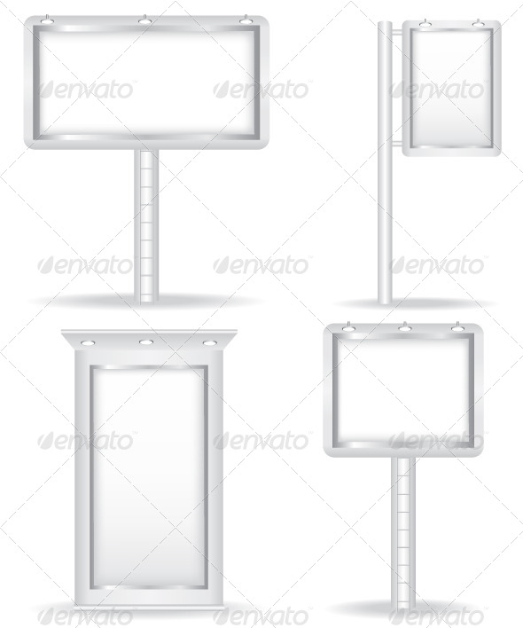 Billboard Vector Illustration - Objects Vectors
