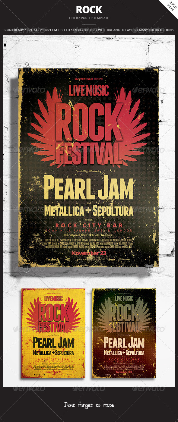 Rock Flyer / Poster 7 - Events Flyers