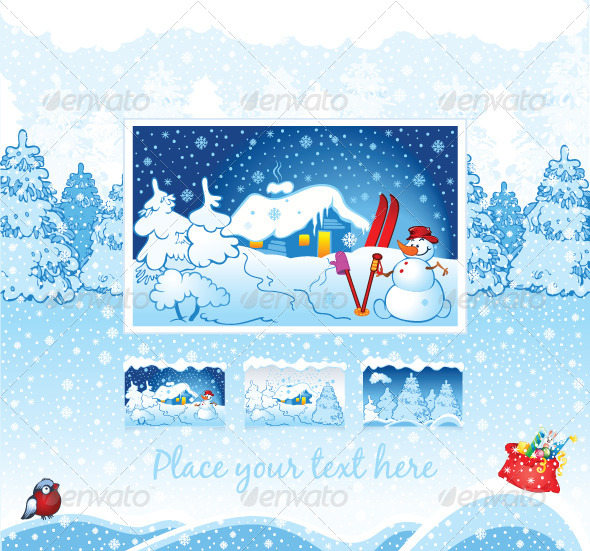 Winter Holiday Nature Background - New Year Seasons/Holidays