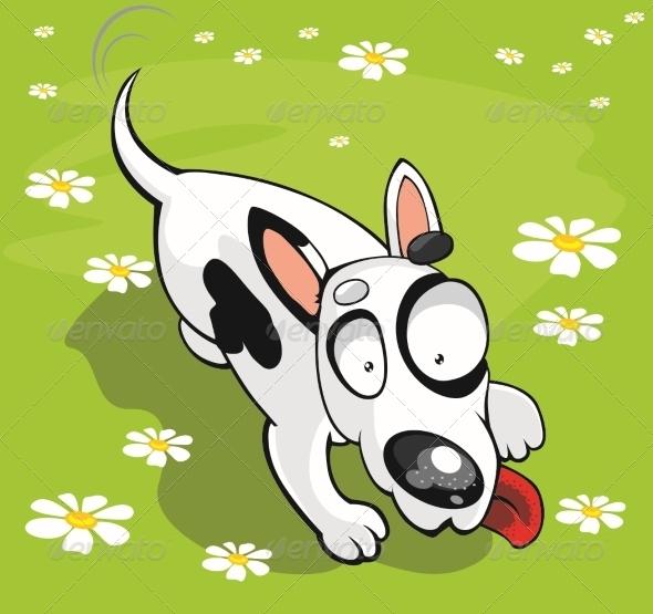 Vector Bull Terrier - Animals Characters