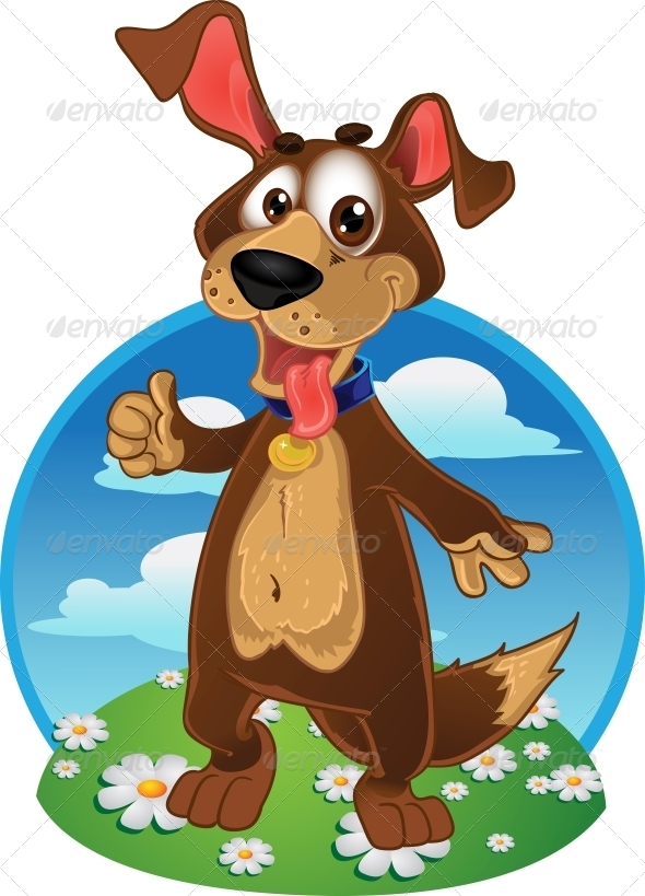 Dog on a Color Background - Animals Characters