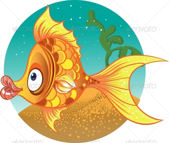 Gold Fish Vector - Animals Characters