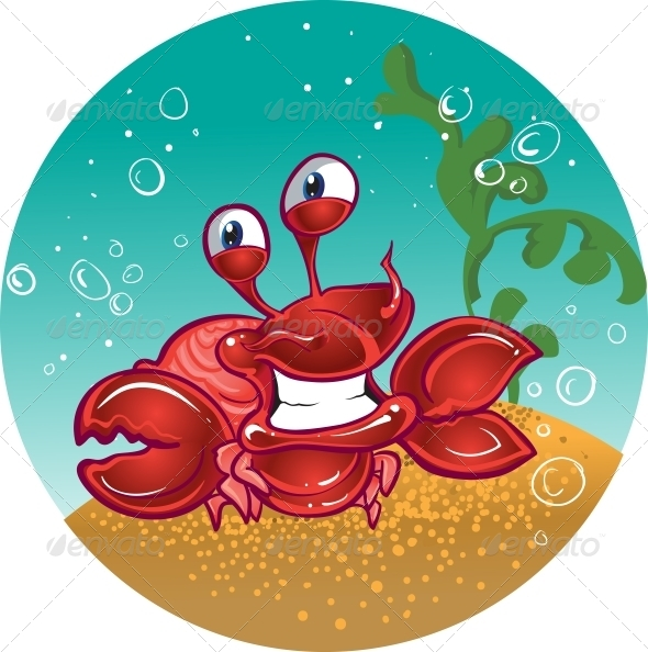 Red Fiddler Crab - Animals Characters