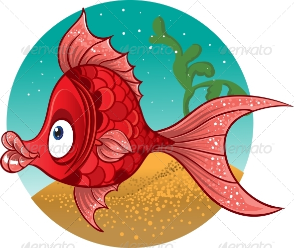 Red Fish Vector - Animals Characters