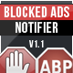 BAN - Blocked Ads Notifier With Statistics - CodeCanyon Item for Sale