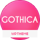 Gothica - A one Page WordPress Theme in Goth Style Nulled