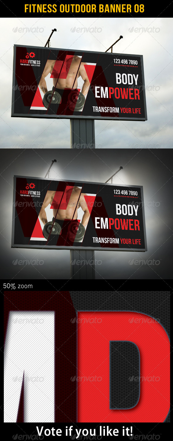 Fitness Outdoor Banner 08 - Signage Print Templates
