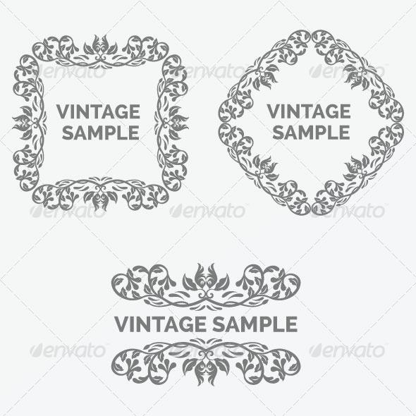 Vintage Frames 41 - Decorative Vectors