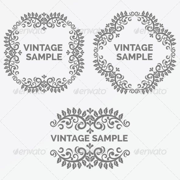 Vintage Frame 45 - Decorative Vectors