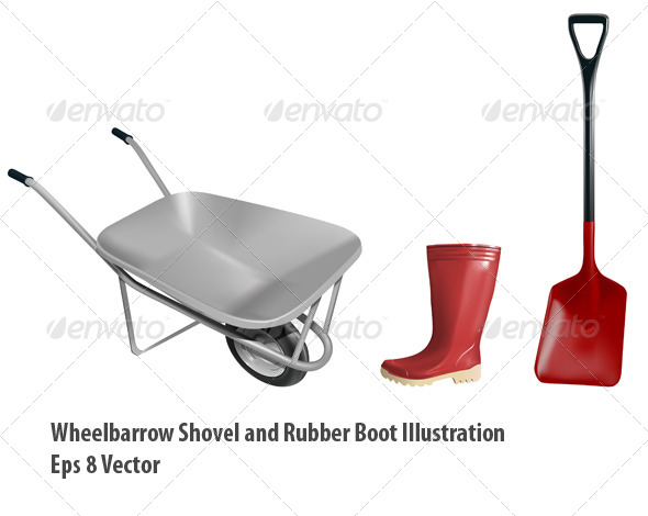 Gardening Equipment - Objects Vectors