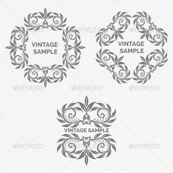Vintage Frame 50 - Decorative Vectors