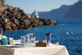Reserved table in front of the aegean sea - PhotoDune Item for Sale