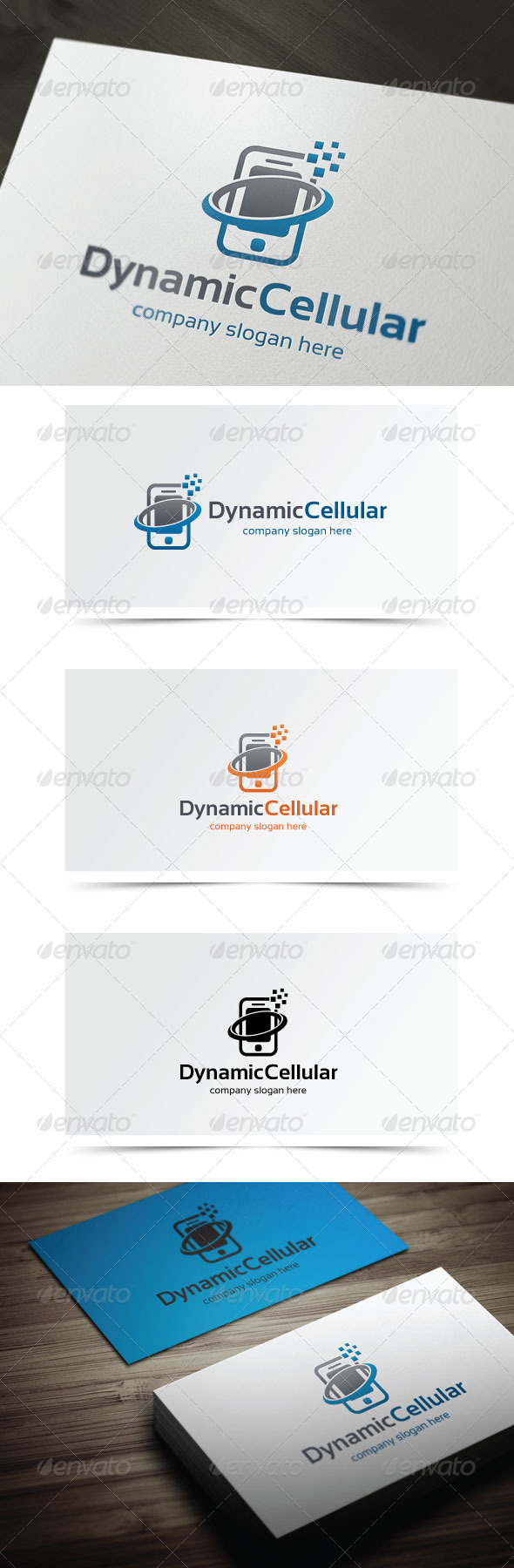 Dynamic Cellular - Objects Logo Templates