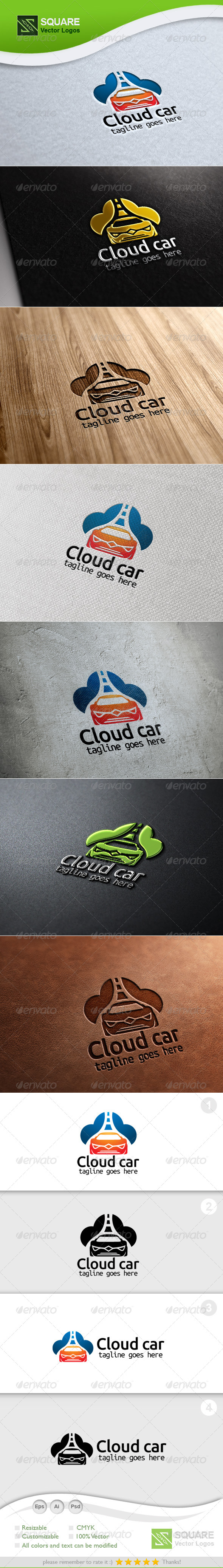 Cloud Car Vector Logo Template - Symbols Logo Templates