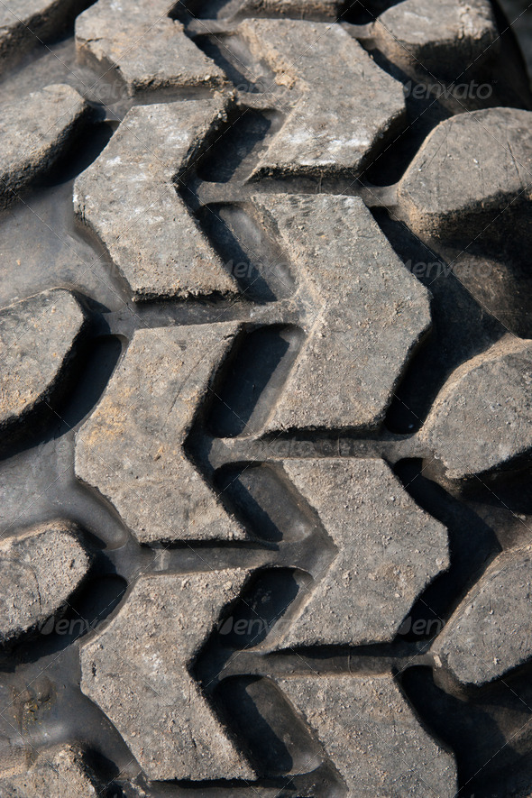 Used and high performance SUV sand tire - Stock Photo - Images