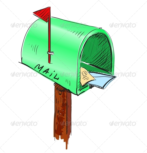 Mailbox Cartoon Icon - Communications Technology