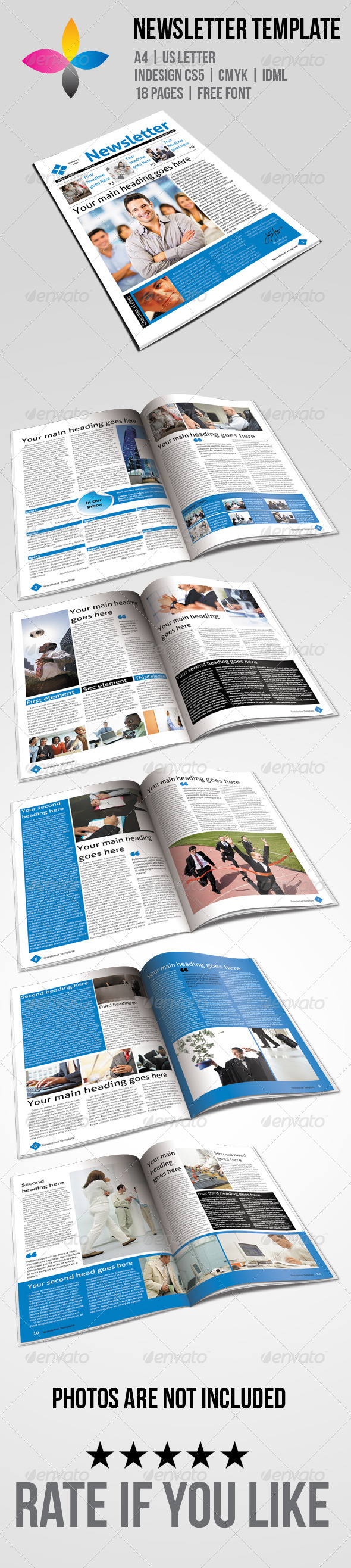 Newsletter Template - Newsletters Print Templates
