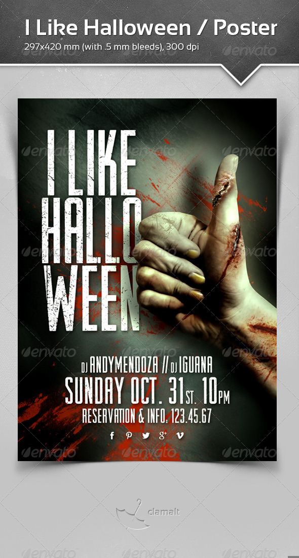 I Like Halloween Poster - Events Flyers