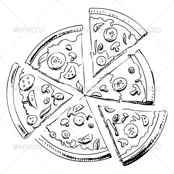 Sliced Pizza - Food Objects