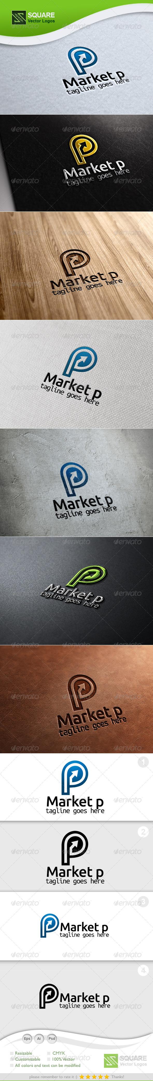 P, Market Vector Logo Template - Letters Logo Templates