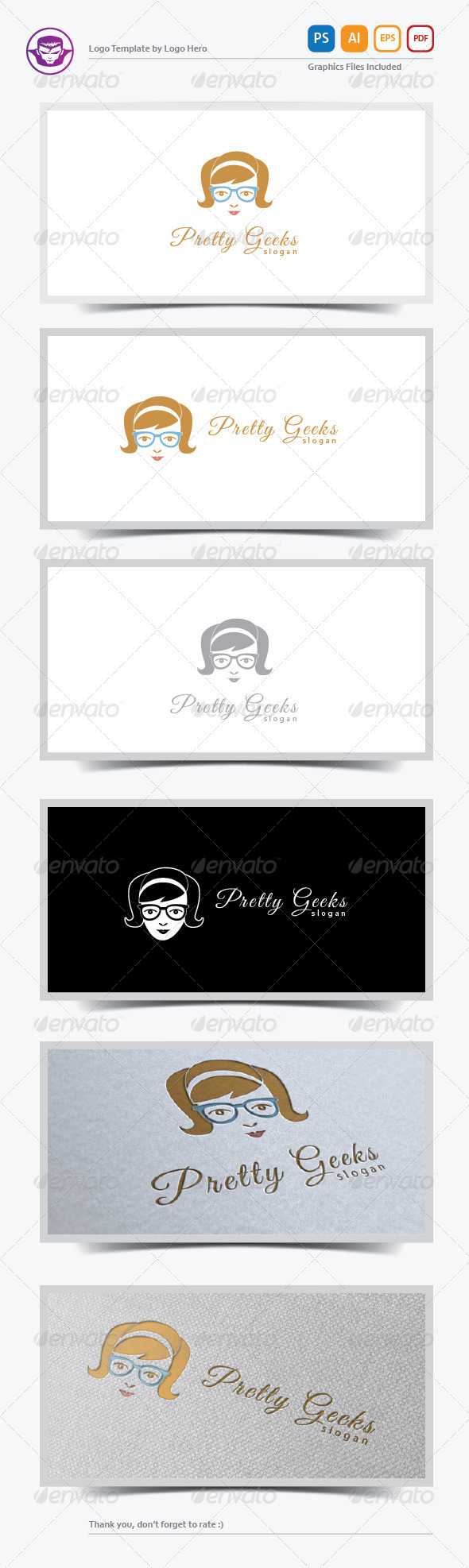 Pretty Geeks Logo Template - Humans Logo Templates
