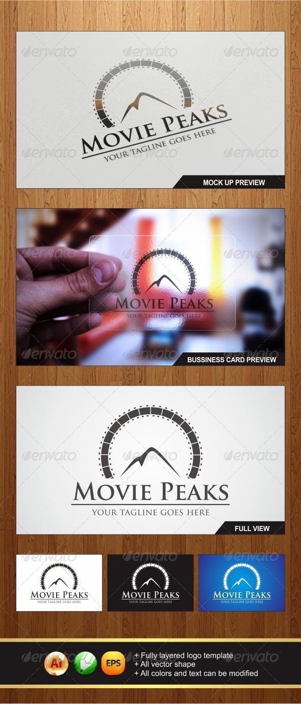 Movie Peaks Logo - Nature Logo Templates