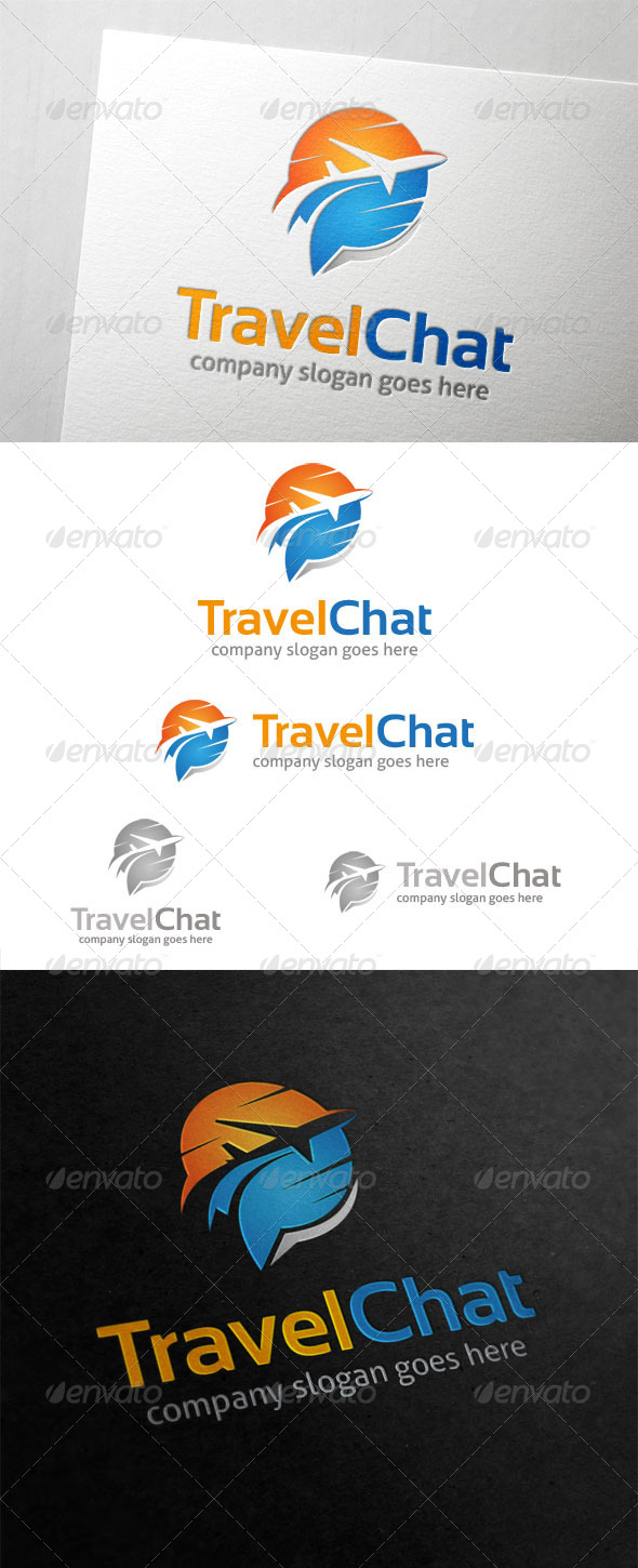 Travel Chat Logo - Symbols Logo Templates